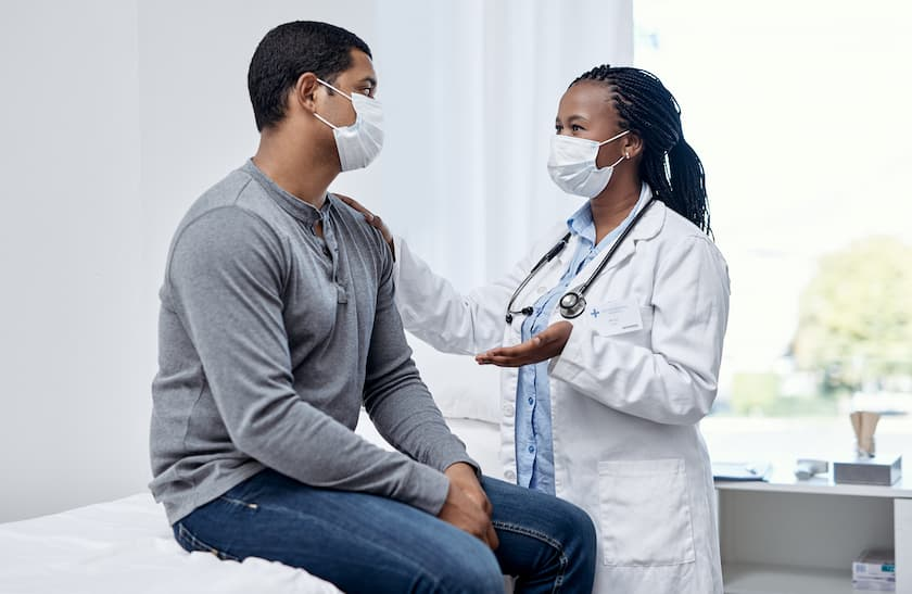 Shot of a doctor having a consultation with a patient